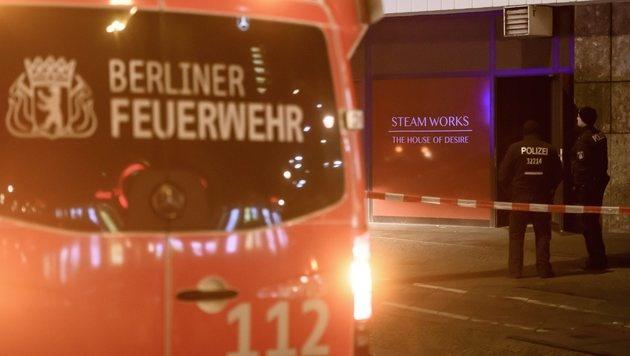 Drei Tote bei Brand in Berliner Saunaclub (Bild: EPA)