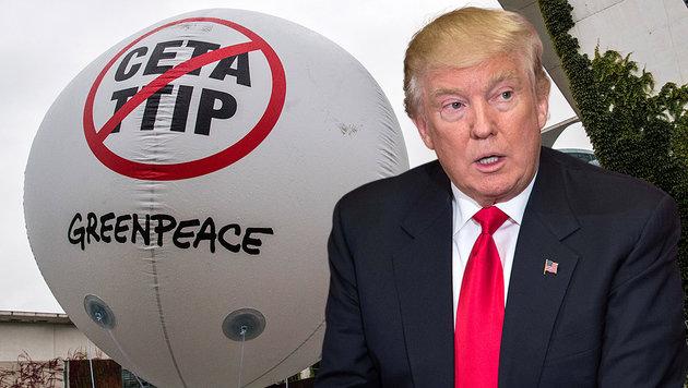 Ganz gleich, wer im Weißen Haus sitzt, die EU-Kommission will TTIP unter Dach und Fach bringen. (Bild: AFP)