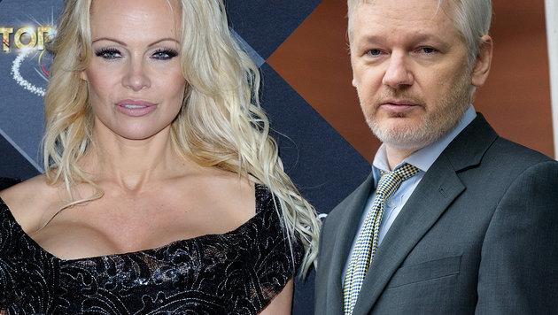Pamela Anderson und Julian Assange (Bild: face to face, Viennareport)