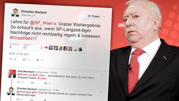 Schluss mit Freundschaft nach SPÖ-Debakel in Graz (Bild: APA/ROLAND SCHLAGER, twitter.com)