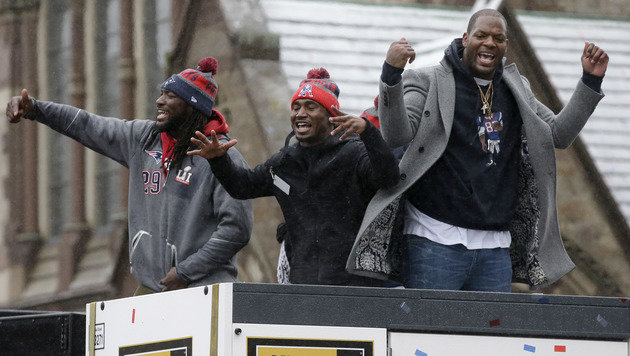 Patriots begeistert bei Super-Bowl-Parade gefeiert (Bild: Associated Press)
