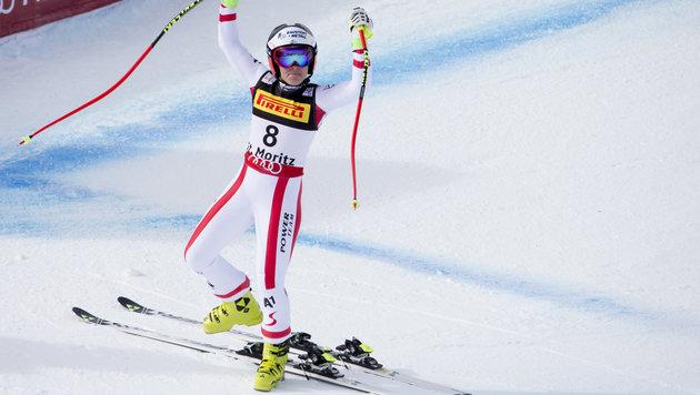 WM-Gold! Schmidhofer feiert Sensationssieg (Bild: AP)