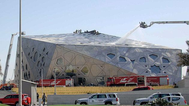 Neues Opernhaus in Kuwait-Stadt stand in Flammen (Bild: AFP)