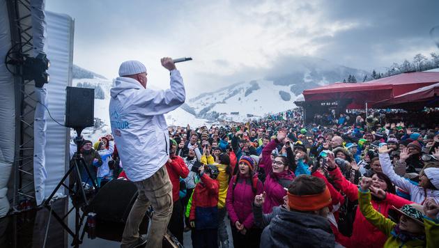 """DJ Ötzi bei seiner """"Gipfeltour"""" (Bild: Georg Krewenka)"""