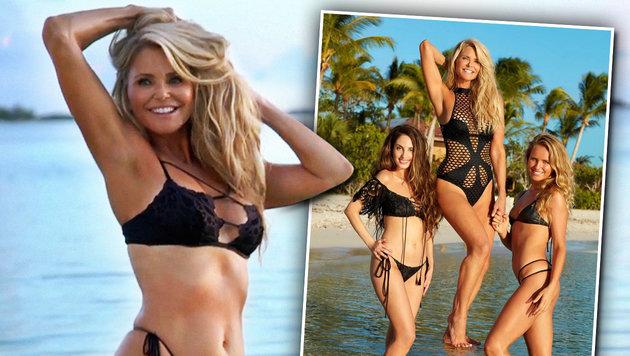 Christie Brinkley mit 63 Jahren so sexy im Bikini (Bild: instagram.com/si_issue, facebook.com/SISwimsuit)