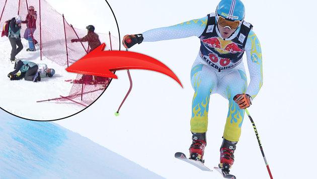 Halswirbel! Die Ski-WM hat ihr erstes Sturz-Opfer (Bild: GEPA)