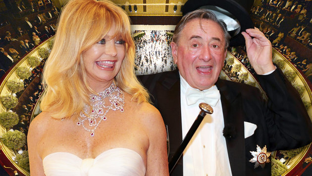 Goldie Hawn ist Richard Lugners Opernballgast. (Bild: Viennareport, APA/HERBERT NEUBAUER, face to face)