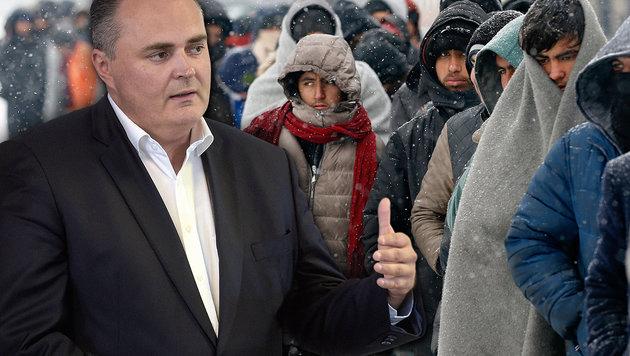 """""""Mit neuer Militärallianz Balkanroute sperren!"""" (Bild: APA/HBF/Pusch, Associated Press)"""