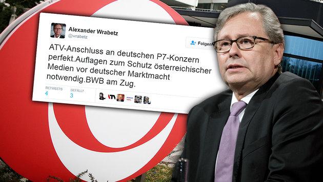 """ORF-Chef Wrabetz nennt ATV-Verkauf """"Anschluss"""" (Bild: twitter.com/wrabetz, APA/GEORG HOCHMUTH)"""