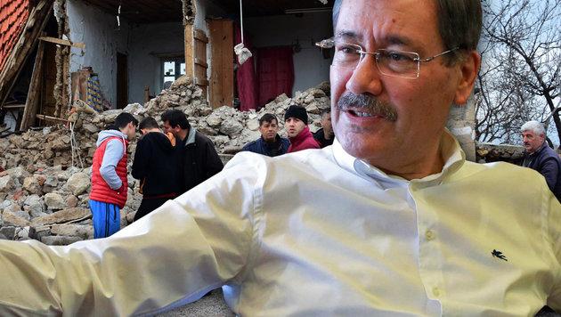 """Türkei-Beben: Bürgermeister ortet """"Verschwörung"""" (Bild: AFP, AP)"""