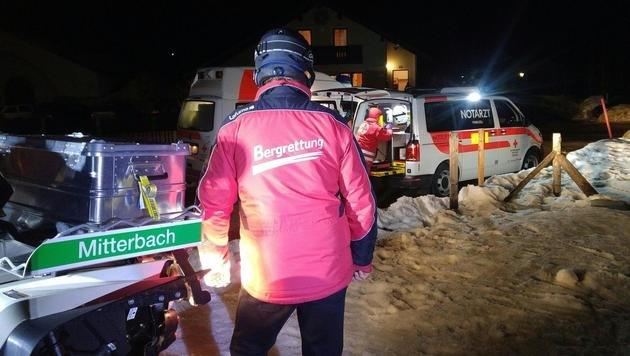 Unfall mit Pistenraupe: Alpinist schwer verletzt (Bild: APA/BERGRETTUNG MITTERBACH)