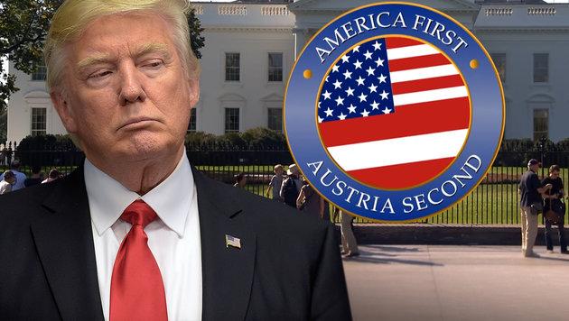 """Satire: Österreichs Antwort auf """"America First"""" (Bild: AP, YouTube.com/NEO MAGAZIN ROYALE)"""