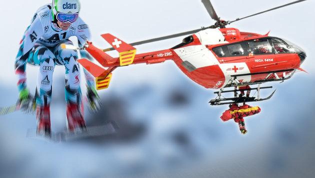 Drama! Puchner bricht sich bei Crash das Bein (Bild: APA/HELMUT FOHRINGER, APA/EXPA/JOHANN GRODER)