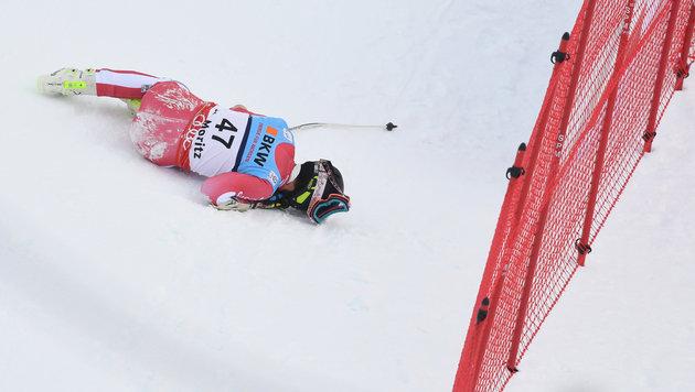 Ski-Exote schockt im Super-G mit Horror-Sturz! (Bild: AFP)