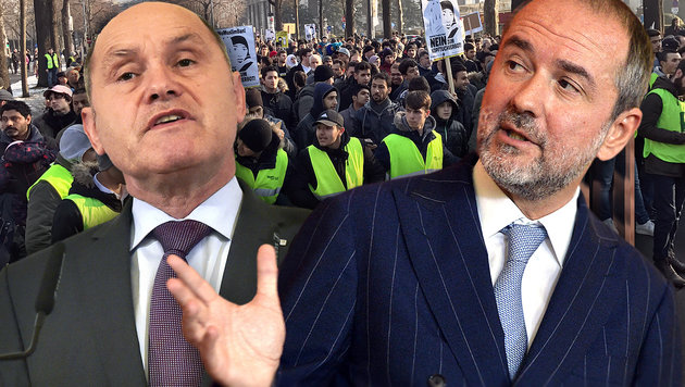 SPÖ blockt Demo-Pläne des Innenministers ab (Bild: APA/HERBERT PFARRHOFER, APA/HANS PUNZ)