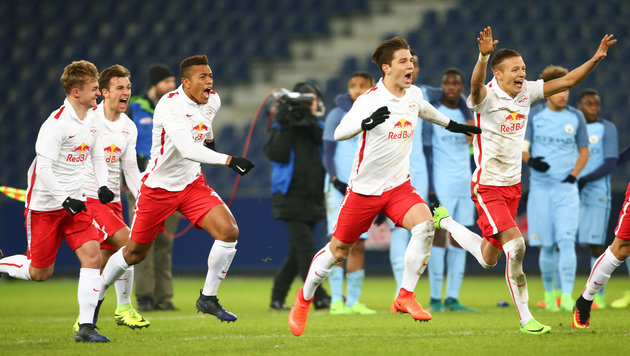 Salzburg erlegt ManCity in Youth-League-Playoff! (Bild: GEPA)