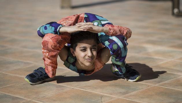 """""""Spinnenbub"""" lief 38-mal um eigenen Körper (Bild: AFP)"""