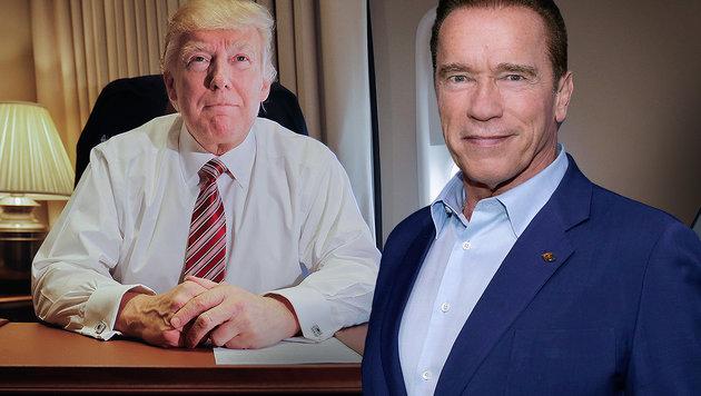 Arnie rudert nach Verbal-Angriff auf Trump zurück (Bild: AP)