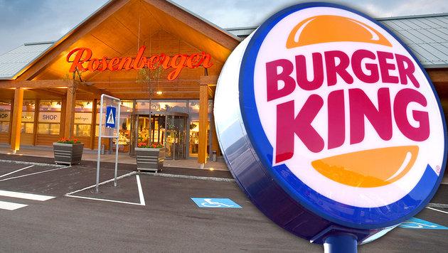 Burger King zieht in Rosenberger-Raststationen ein (Bild: APA/dpa/Federico Gambarini, Rosenberger)