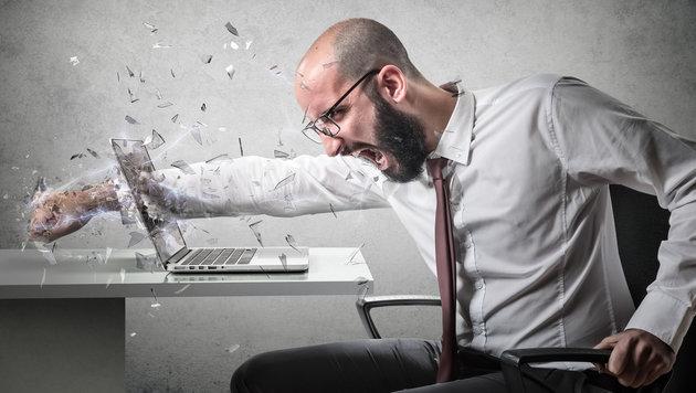 So viel Hass prasselt im Web auf Journalisten ein (Bild: thinkstockphotos.de)