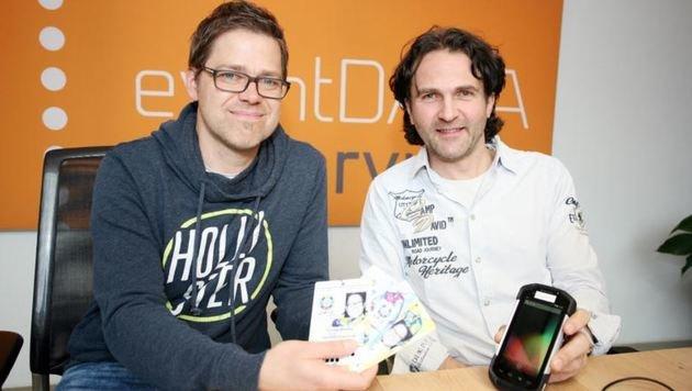 Sorgen für Zutrittsorganisation bei der Ski-WM (li.): Thomas Wiedner, Armin Hessenberger. (Bild: Max Grill)