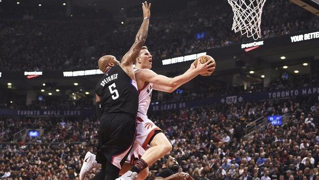 Toronto unterlag mit Jakob Pöltl bei Minnesota (Bild: AP)