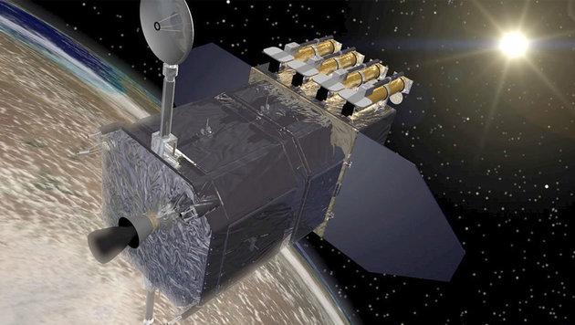 Künstlerische Illustration des Solar Dynamics Observatory (Bild: NASA/GSFC/Conceptual Image Lab)
