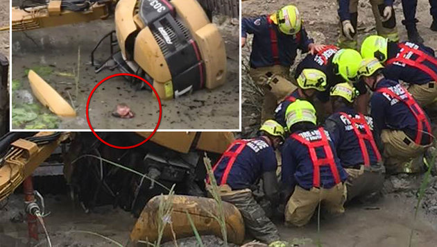 Australier überlebte fünf Stunden in Schlammloch (Bild: NINE NEWS SYDNEY, facebook.com)