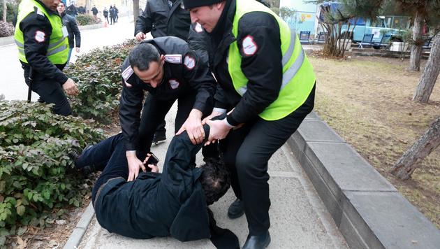 Bei den Protesten am Unicampus in Ankara kam es zu mehreren Festnahmen. (Bild: AFP)