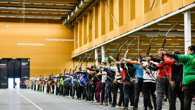350 Starter ermitteln bei den Indoor-Staatsmeisterschaften den besten Bogenschützen. (Bild: Markus Wenzel)