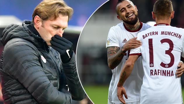 Dusel-Bayern lachen über Leipzigs Peinlich-Pleite (Bild: AFP)