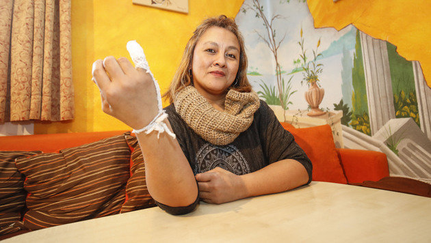 Irene Kanz wurde mit einer blutenden Wunde weggeschickt. Es gab eine Entschuldigung. (Bild: MARKUS TSCHEPP)