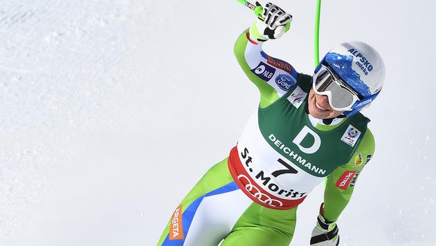 Siegerin Ilka Stuhec (Bild: AFP)