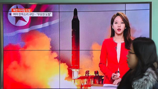 In Südkorea reagiert man angesichts eines neuen Raketentests in Nordkorea besorgt. (Bild: AFP)
