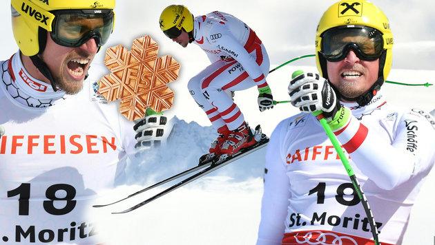 Max Franz lässt Österreich mit Bronze jubeln! (Bild: APA/HELMUT FOHRINGER, AFP)