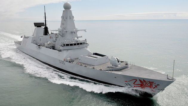 "Der britische Zerstörer ""HMS Dragon"" (Bild: defenceimagery.mod.uk)"