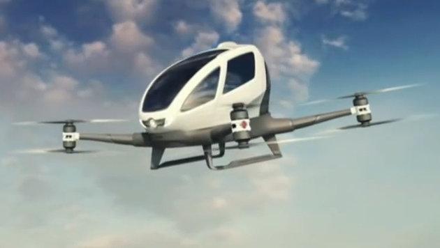 Dubai testet Prototyp einer Taxi-Drohne (Bild: YouTube.com)