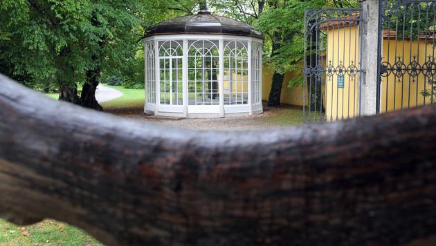 """Der Pavillon im Schlosspark Hellbrunn war 1964 ein Schauplatz des Films """"Sound of Music"""". (Bild: APA/BARBARA GINDL)"""