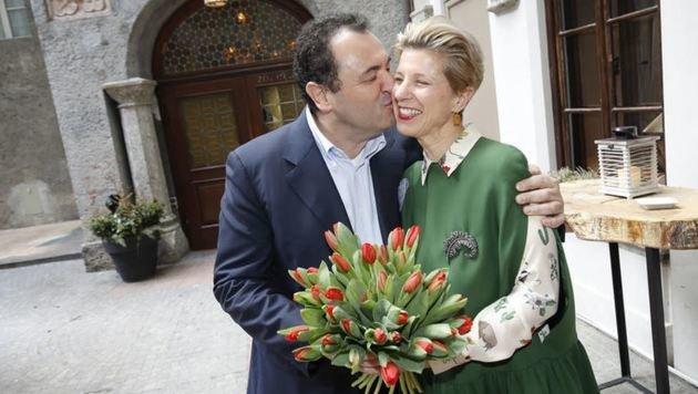 Diese Liebesgeschichte braucht kein Drehbuch: Claus Haslauer & Veronika Kirchmayr. (Bild: Markus Tschepp)