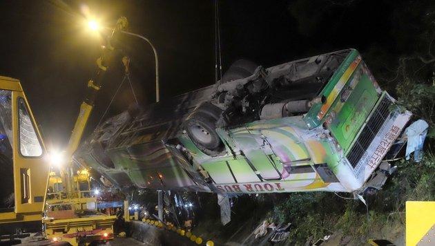 Mehr als 30 Tote bei Busunfall in Taipeh (Bild: AFP/Sam Yeh)
