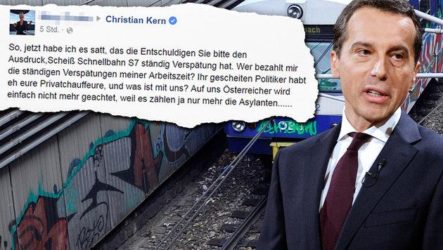 Wut-Posting amüsiert Kerns Facebook-Team (Bild: APA/HANS PUNZ, APA/GEORG HOCHMUTH, facebook.com)