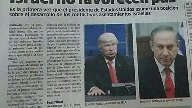 Zeitung verwechselt Alec Baldwin mit Donald Trump (Bild: twitter.com/lisa_permar)