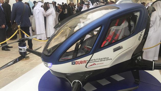 Dubai testet Prototyp einer Taxi-Drohne (Bild: Associated Press)