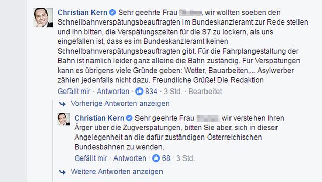 Wut-Posting amüsiert Kerns Facebook-Team (Bild: facebook.com/bundeskanzler.christian.kern)