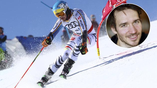 Deutsche bangen um Skistar Felix Neureuther (Bild: AP)