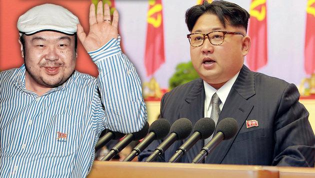 Ließ tatsächlich Kim Jong Un seinen Halbbruder Kim Jong Nam ermorden? (Bild: KCNA, AP/Shin In-seop)