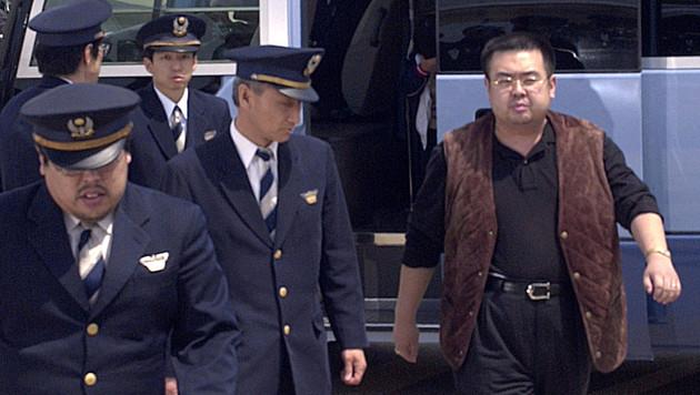 Kim Jong Uns Halbbruder im Jahr 2001 am Flughafen in Tokio (Bild: AP)