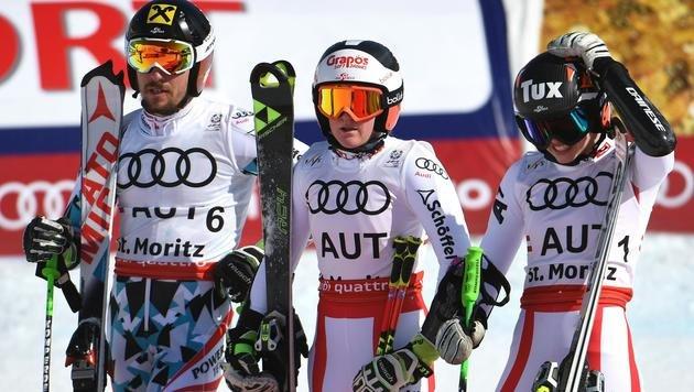 """Feller: """"Man geht davon aus, dass Marcel gewinnt!"""" (Bild: APA/HELMUT FOHRINGER)"""