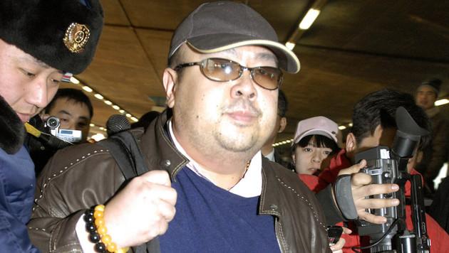 Kim Jong Nam 2007 am Flughafen in Peking (Bild: AP)