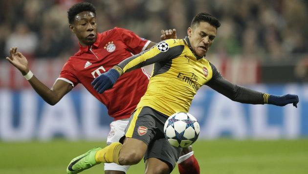 5:1! Bayern-Express zerlegt hilflose Arsenal-Elf (Bild: AP)